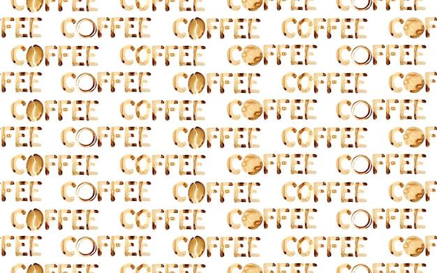 Word koffie - naadloos patroon. kan worden gebruikt als achtergrond
