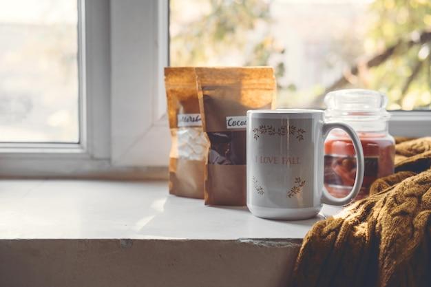 Worklife balance gezellig thuis ontspannen binnenshuis concept winter herfst gezellig sfeer concept stilleven
