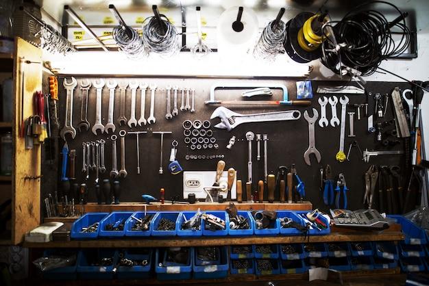 Workshop professionele grote set gereedschappen.