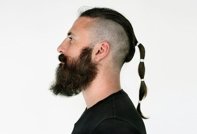Worldface-italiaanse man op een witte achtergrond