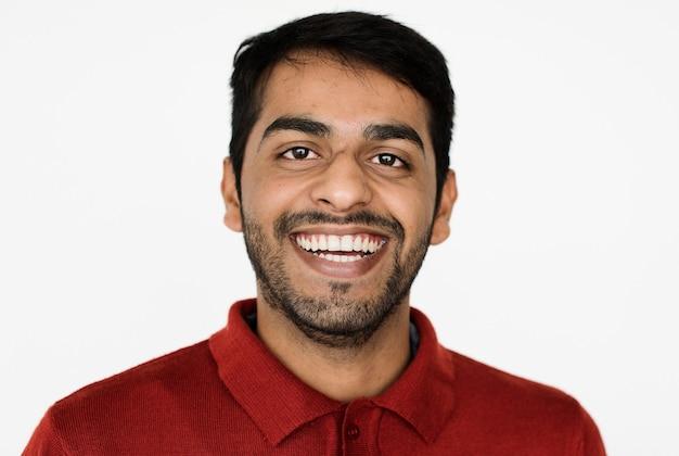 Worldface-pakistaanse man op een witte achtergrond