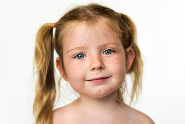 Worldface-russisch meisje op een witte achtergrond