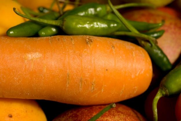 Wortel en groene paprika's