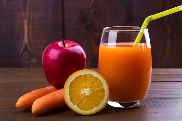 Wortel oranje appelsap