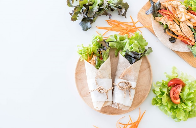 Wrap salade roll
