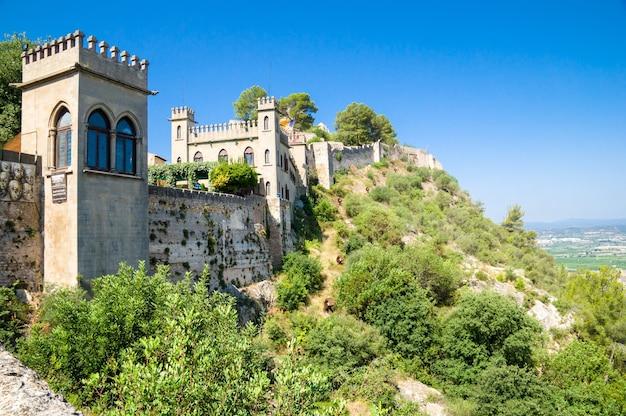 Xativa-kasteel in xàtiva, valencia, spanje