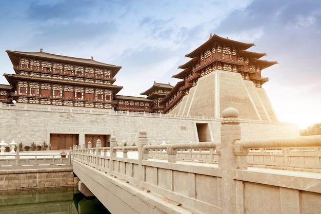 Yingtian gate is de zuidelijke poort van luoyang city in de sui- en tang-dynastieën