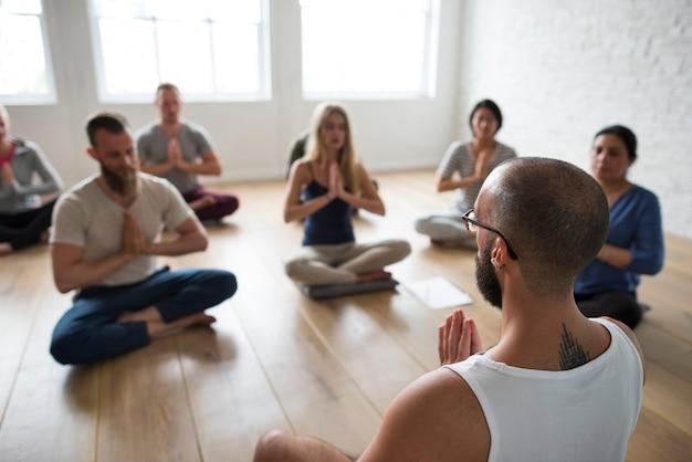 Yoga klas concept