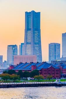 Yokohama skyline stad