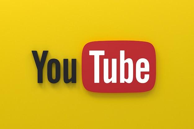 Youtube applicatie 3d social media iconen logo 3d-rendering