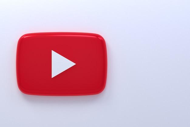 Youtube logo 3d-rendering