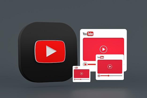Youtube-logo en mediaspeler-interfaceset