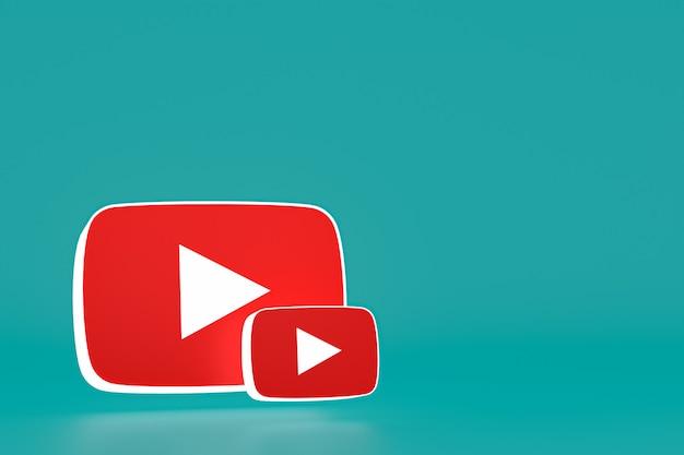 Youtube-logo's ingesteld