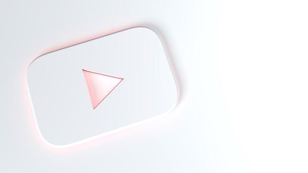 Youtube-pictogram op een wit