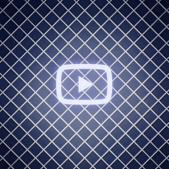 Youtube-teken neon effect renderen