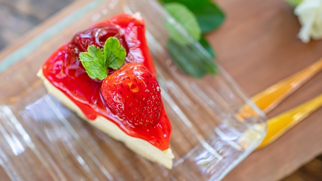 Yummy strawberry cheesecake