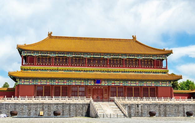 Zaal in de verboden stad of het palace museum - peking, china