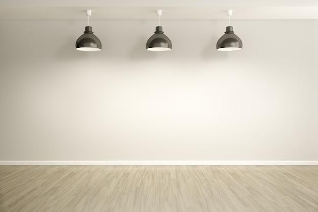 Zaal met lampenachtergrond