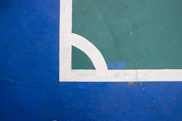 Zaalvoetbal indoor sportstadion met mark