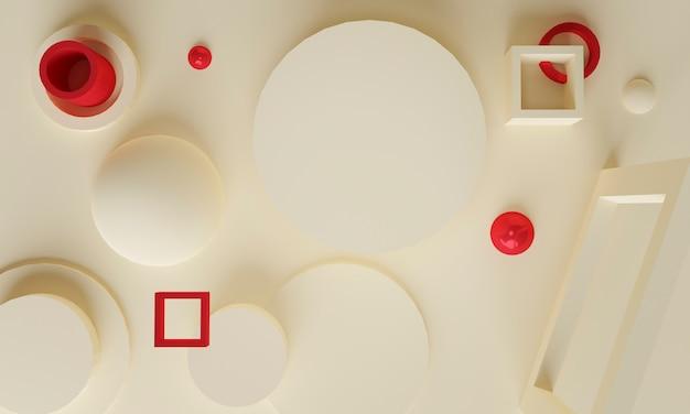 Zachte crème rode abstracte achtergrond