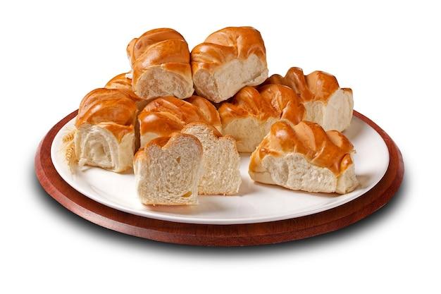Zachte en zoete kleine brioches gemaakt met melk, boter, eieren en suiker