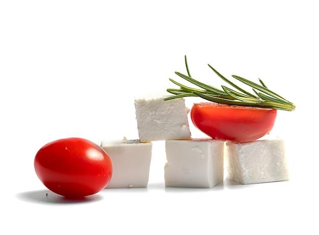Zachte kwark en tomaten
