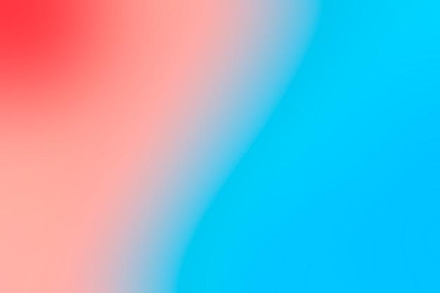 Zachte overgang van blauw en rood