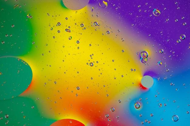 Zachte vloeiende vorm uit verschillende kleuren
