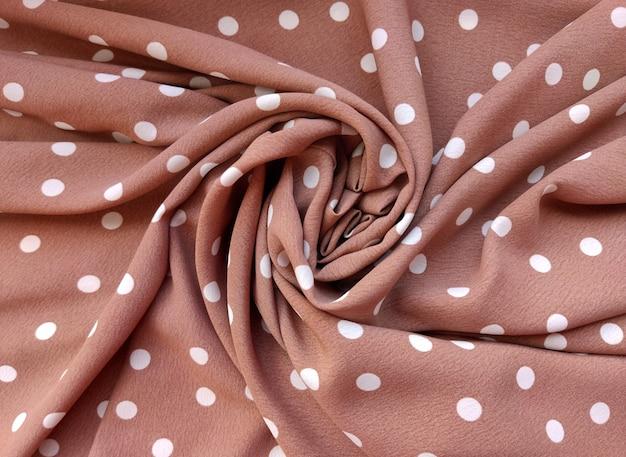 Zachte zachte beige stof polka dot printed fleece