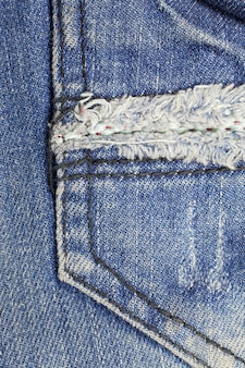 Zak blue jeans gestructureerde achtergrond.