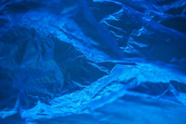 Zak met cellofaanblauw