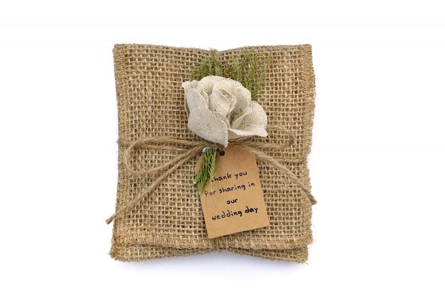 Zak zak voor bevatten souvenirs in bruiloft