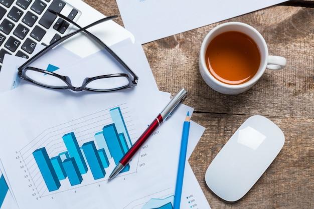 Zakelijk en financieel rapport tonen. accounting