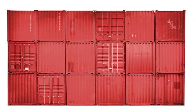 Zakelijk en logistiek. goederenvervoer en opslag. apparatuurcontainers verzenden.