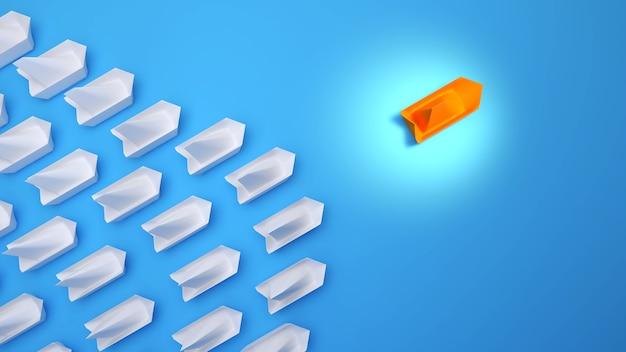 Zakelijk leiderschap bij hoge concurrentiedenken buiten de kadersplanning voor concurrenten