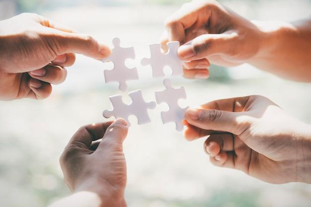 Zakelijk partnerschap concept.