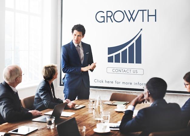 Zakelijk succes rapport grafiek concept