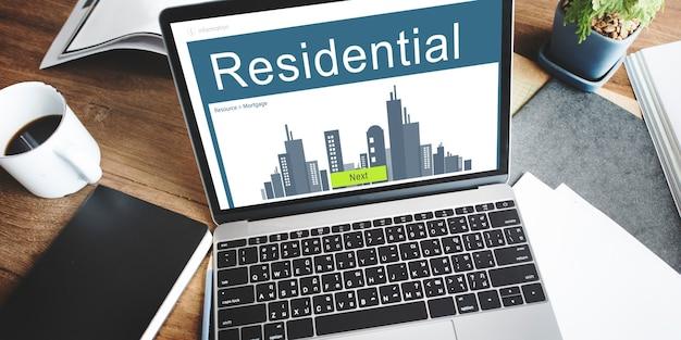Zakelijk vastgoed hypotheek huur concept
