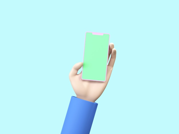 Zakelijke 3d-pictogram op pastel kleur achtergrond.