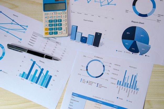 Zakelijke analyse grafiek