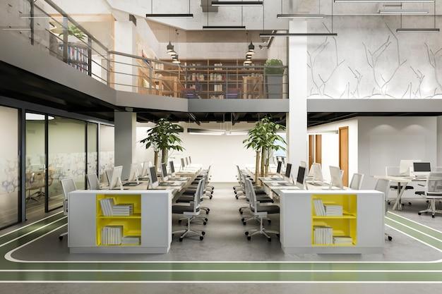 Zakelijke bijeenkomst en werkruimte op kantoorgebouw