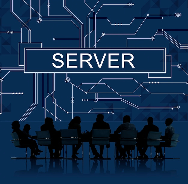 Zakelijke bijeenkomst over servers