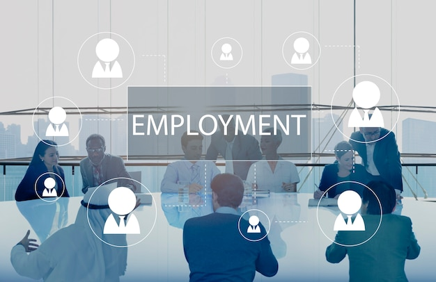 Zakelijke bijeenkomst over werkgelegenheid