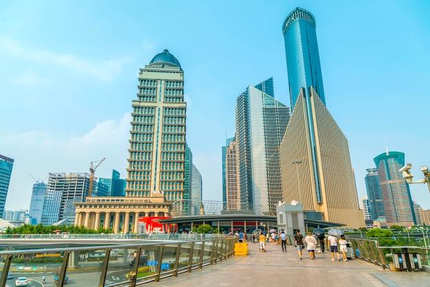 Zakelijke financiële vloer shanghai futuristische moderne