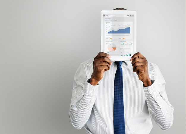 Zakelijke grafiek strategie analyse concept