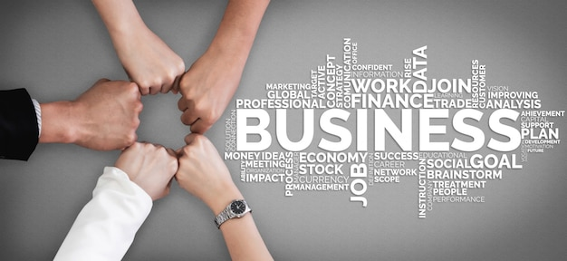 Zakelijke handel financiën en marketing concept.