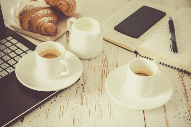 Zakelijke koffiepauze concept