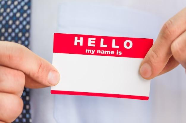 Zakelijke man handen met kaart met tekst
