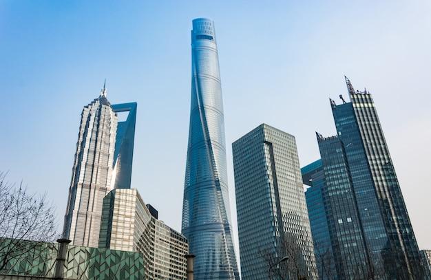 Zakelijke sky stadsgezicht financiële landschap