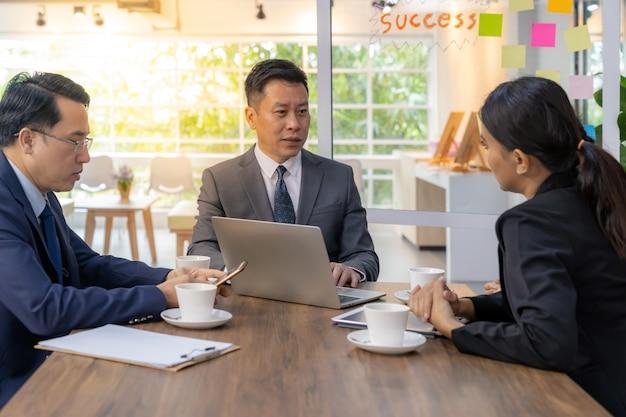 Zakelijke teamvergadering